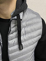 Жилет чоловічий сірого кольору стьобана, фото 2