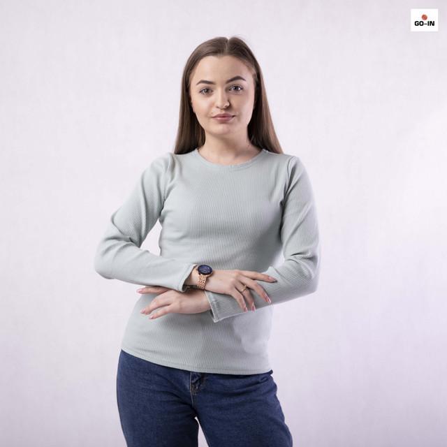 Кофта жіноча базова в рубчик однотонна