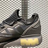 Чоловічі кросівки adidas ZX 2K Boost Black Light Green, фото 2