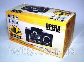 Блютуз колонка Opera OP-7713 (Черный), фото 2