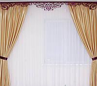 Комплект штор и ламбрекен