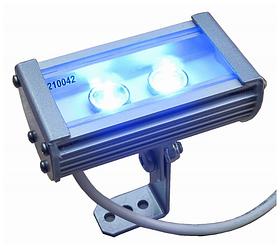 Фасадний лінійний прожектор LED 12V-DC 134мм 8.5 W IP65 різні кольори