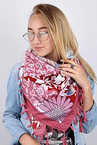Платок FAMO Кемили розовый 105*105 (FZ-1802) #L/A