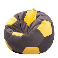 Бескаркасное кресло мяч 60 х 60 см Коричнево-жёлтое