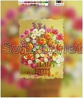 Схема на подрамнике Цветы в лукошке