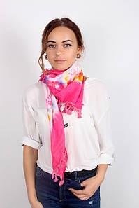 Хустка FAMO -косинка Селія рожевий (S340) 135*65 #L/A