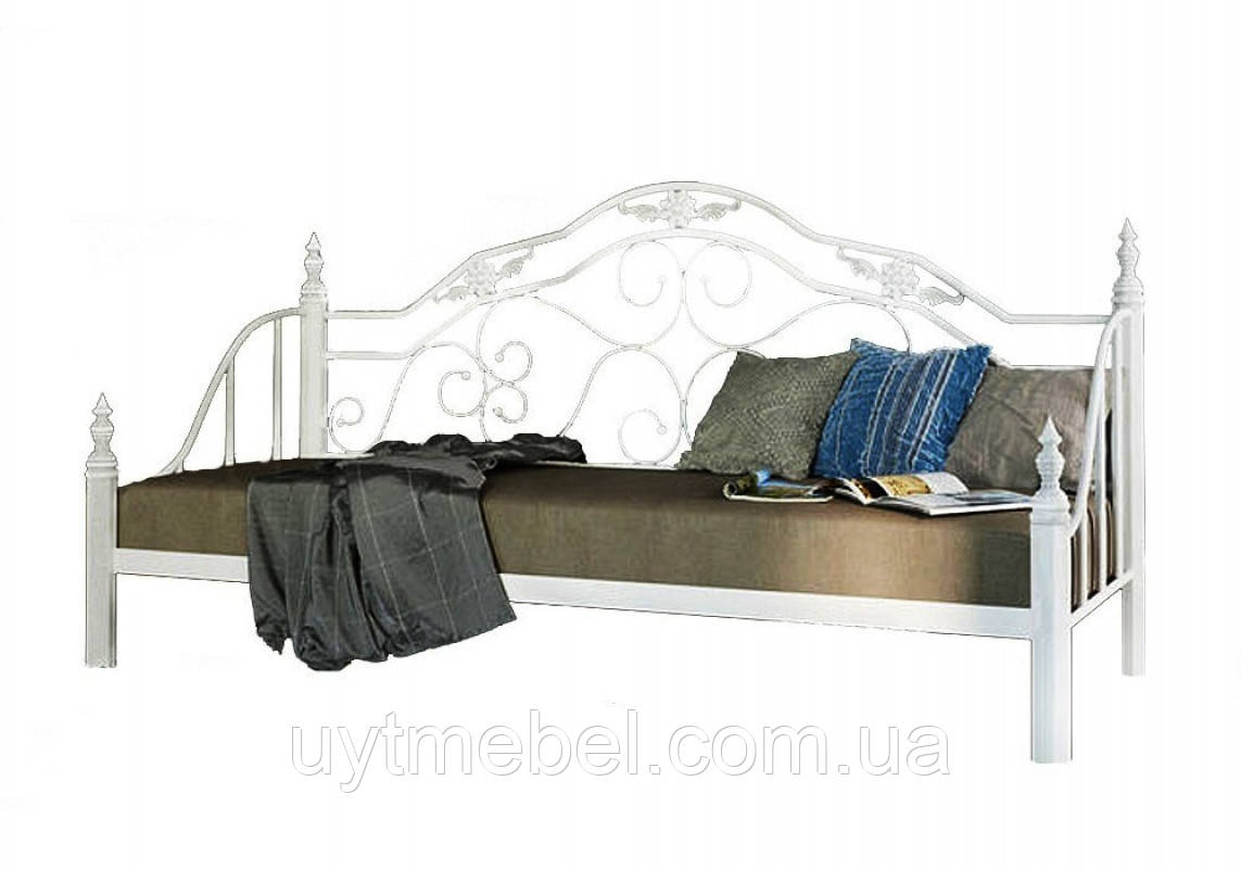 Ліжко Леон 900х2000 білий (Метал Дизайн)