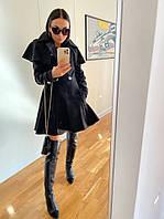 Женское стильное пальто на пуговицах, фото 1