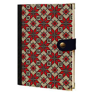 Дневник на кнопке Красные ромбы