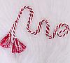 Красный  плетеный пояс