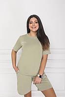 Жіночий модний батальний костюм двійка : шорти + футболка (р. 48-58). Арт-4010/6