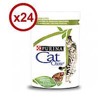 Cat Chow  85 г* 24шт - паучи для кошек