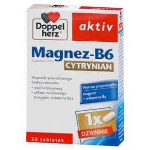 Doppelherz Aktiv, Цитрат магния-B6, 30 капсул