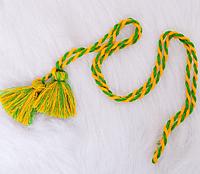 Яркий  плетеный пояс для вышиванки