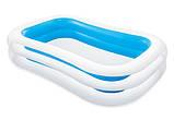 Детский надувной бассейн Intex 262*175*56 см Cемейный большой наливной для дома, дачи и детей 56483, фото 2
