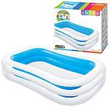 Детский надувной бассейн Intex 262*175*56 см Cемейный большой наливной для дома, дачи и детей 56483, фото 3