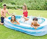 Детский надувной бассейн Intex 262*175*56 см Cемейный большой наливной для дома, дачи и детей 56483, фото 5