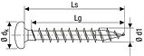 Саморез SPAX с покр. WIROX 4,5х60, полная резьба, полукруг. головка, PZ2, 4CUT, упак.-500 шт., пр-во Германия, фото 2
