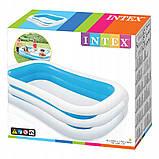 Детский надувной бассейн Intex 262*175*56 см Cемейный большой наливной для дома, дачи и детей 56483, фото 6