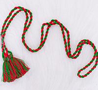 Красочный плетеный пояс для вышиванки