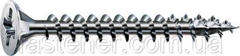 Саморіз SPAX з покр. WIROX 4,5х60, повна різьба, потай, PZ2, 4CUT, упак. 500 шт., пр-під Німеччина