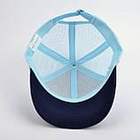 Бейсболка детская для мальчика Sport размер 50-52 голубой, фото 4