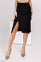 Замшевая женская юбка на запах по колено р-ры 42-48 арт.  331