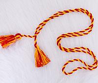 Плетеный пояс для вышиванки