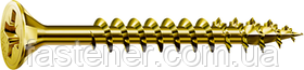 Саморіз SPAX з покр. YELLOX 4,5х60, повна різьба, потай, PZ2, 4-CUT, упак. 500 шт., пр-під Німеччина