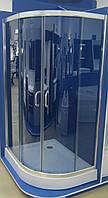 Душевая кабина асимметричная BADICO SAN 1015 Fabric левосторонняя 115х85х195 с поддоном и сифоном