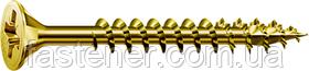 Саморез SPAX с покр. YELLOX 4,5х70, полная резьба, потай, PZ2, 4-CUT, упак. 100 шт., пр-во Германия