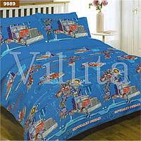 Детское постельное белье 9989 ранфорс ТМ Вилюта грузовики