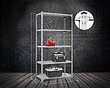 Стеллаж Комби 1800х900х500мм, 120кг, 5 полок, металлические полки, оцинкованный для подвала, склада, архива, фото 2
