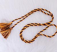 Плетеный  модный пояс для вышиванки