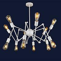 Люстра в стиле лофт паук в гостиную цвет белый Levistella&911A23-12 WH