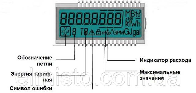 схема дисплея вычислителя теплосчетчика