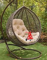 Садовое подвесное кресло качели кокон Vlada со стойкой, подвесное кресло-шар, подвесные садовые качели