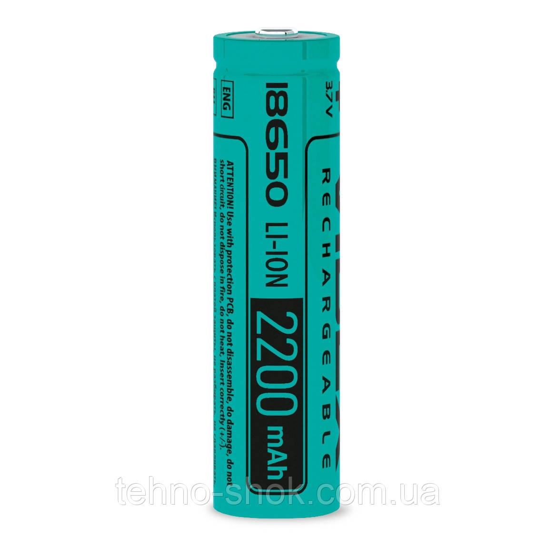 Акумулятор Videx літій-іонний 18650(без захисту) 2200mAh