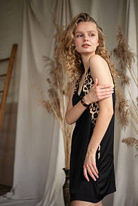 039 сорочка Black leopard Silence (S) #N/A