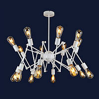 Люстра в стиле лофт паук в гостиную цвет белый Levistella&761ZD016-16 WH