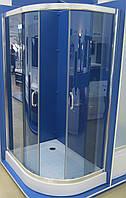 Душевая кабина асимметричная BADICO SAN 1015 Fabric правосторонняя 115х85х195 с поддоном и сифоном