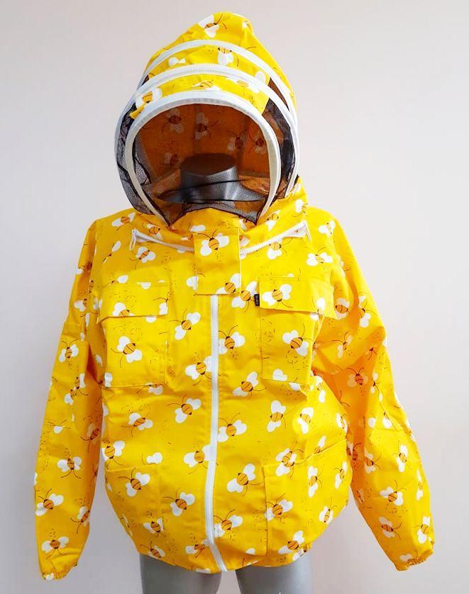 Куртка бджоляра, евромаска, 100% бавовна, жовта з бджолами Пакистан розмір