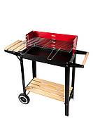 Гриль барбекю угольный с столиком на колесиках фирмы Levistella Размер гриля: 86x34x84 см LV2004929A