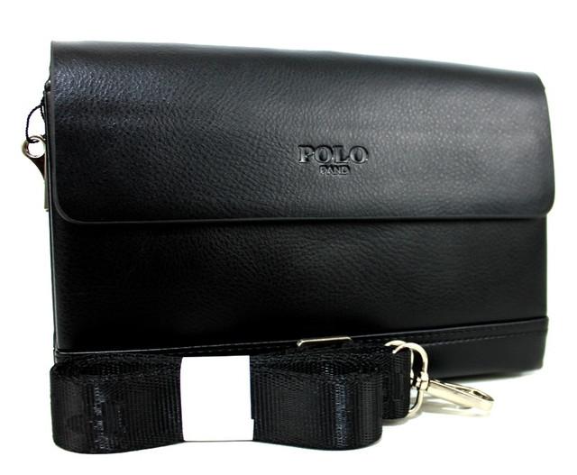 Чорна компактна сумка-клатч з ременем через плече для чоловіків YR 6681-2