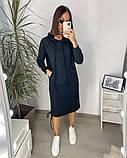 Сукня в спортивному стилі з капюшоном 46-450, фото 3