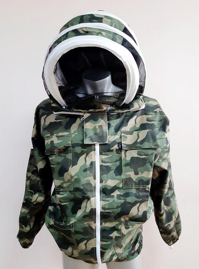 Куртка бджоляра, евромаска, 100% бавовна, камуфляжна Пакистан розмір