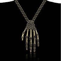 Кулон Костлявая рука смерти Стильная бижутерия на Хэллоуин Украшения в стиле Halloween, фото 1