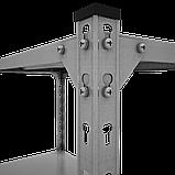 Стеллаж Комби 1800х1000х600мм, 120кг, 5 полок, металлические полки, оцинкованный для подвала, склада, архива, фото 5