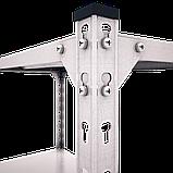 Стеллаж Комби 1800х1200х400мм, 120кг, 5 полок, металлические полки, оцинкованный для подвала, склада, архива, фото 4