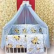 Набір дитячої постільної білизни - 9 предметів / Бортики в ліжечко малюка, фото 6